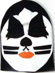 e9334ab37e2 Kiss The Cat Mens Black Ski Mask - ROCK BAND HATS - KISS MERCHANDISE