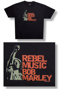 Bob Marley Rebel Music Mens Tee Shirt
