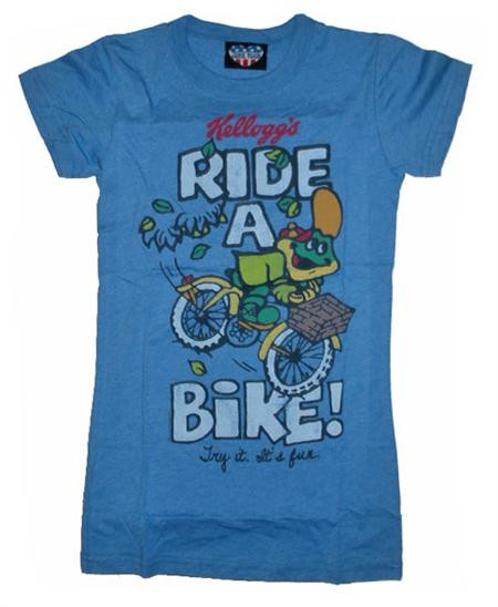 Junk Food Dig Em Ride A Bike Womens Tee Shirt