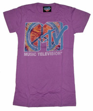 MTV Tie Dye Logo Womens Tee Shirt by Junk Food Clothing