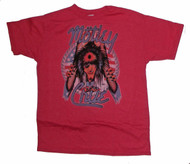 Mens Motley Crue Tee Shirt in Red by Junk Food Clothing