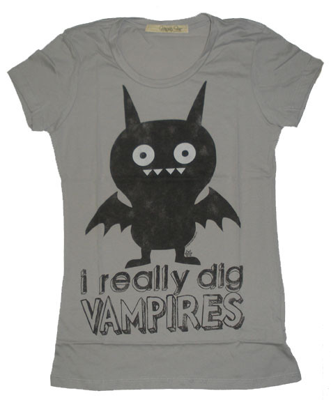 I Really Dig Vampires Vintage Style Womens Tee Shirt by Mighty Fine