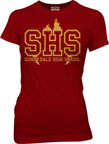 BUFFY THE VAMPIRE SLAYER SUNNYDALE HIGH SCHOOL JUNIORS TEE SHIRT