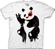 New Standard Panda Rock Mens Tee Shirt