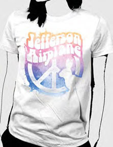 Jefferson Airplane White Rabbit Vintage Style Juniors Tee Shirt