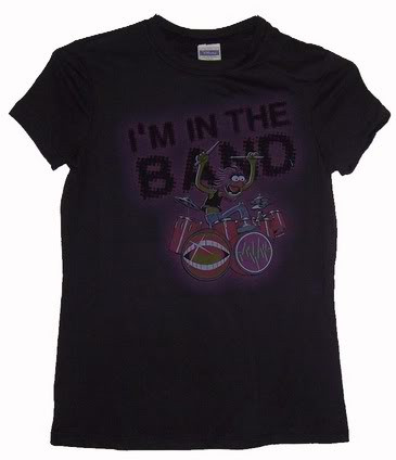 Disney The Muppets Animal I'm With The Band Vintage Style Juniors Tee Shirt