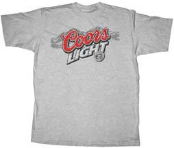 Coors Light Grey Heather Mens Tee Shirt