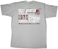 Coors Light Rocky Mountain Gray Mens Tee Shirt