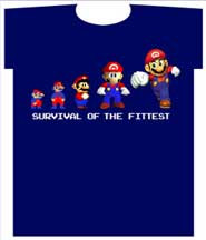 NINTENDO MARIO BROTHERS SURVIVAL OF THE FITTEST YOUTH TEE SHIRT
