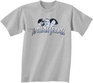 THE THREE STOOGES STOOGE LOGO MENS TEE SHIRT