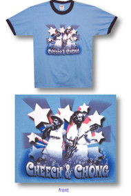 Cheech and Chong Stars Ringer Tee Shirt