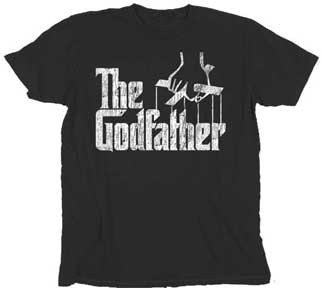 Distressed Godfather Logo Retro Mens T-Shirt