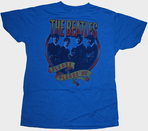 Mens Junk Food The Beatles Please Me Tee Shirt