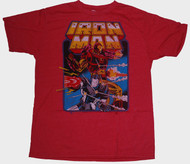 Mens Junk Food Tees Iron Man Tee Shirt in Licorice