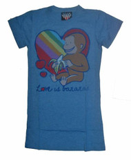 Curious George Love is Bannanas Womens Tee Shirt by Junk Food Clothing