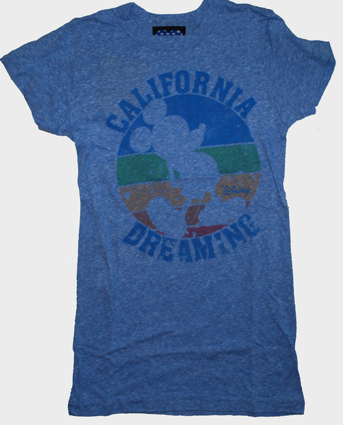 Disney Mickey Mouse California Dreaming Womens Tee Shirt by Junk Food Clothing