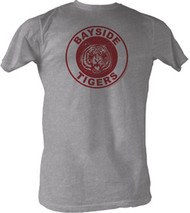 Saved By The Bell Bayside Tigers Gray Mens Tee Shirt