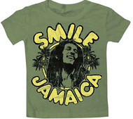 BOB MARLEY CATCH A FIRE SMILE JAMAICA VINTAGE STYLE INFANT TEE SHIRT