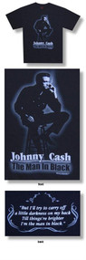 Johnny Cash The Man In Black Mens Tee Shirt