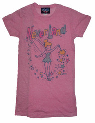 Disney Tinkerbell Neverland Womens Tee Shirt in Taffy by Junk Food Clothing