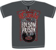 Johnny Cash Cash at Folsom Prison Mens Tee Shirt