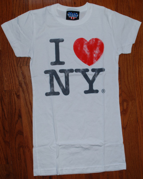 I Love New York White Womens Tee Shirt by Junk Food Clothing