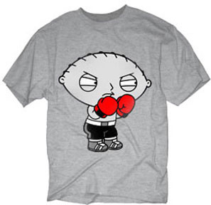 THE FAMILY GUY STEWIE BOXING MENS TEE SHIRT