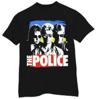 The Police Color Block Black Mens Tee Shirt