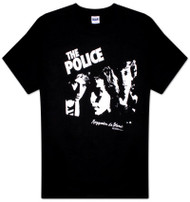 The Police Regatta De Blanc Black Mens Tee Shirt