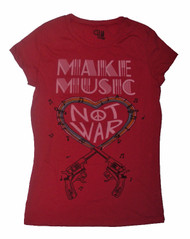 Make Music Not War Juniors T-Shirt