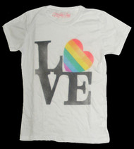 Love Rainbow Heart Juniors T-Shirt