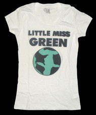 Little Miss Green Juniors T-Shirt