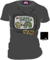 Mr. Turtle Tootsie Pop Vintage Style Juniors Tee Shirt
