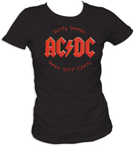 AC/DC Dirty Deeds Done Cheap Juniors Tee Shirt