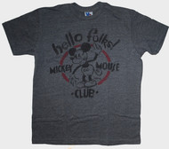 Junk Food Mens Mickey Mouse Club Hello Folks Tee Shirt
