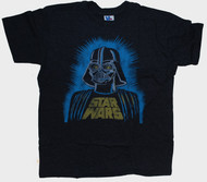 Mens Star Wars Darth Vader Tri Blend Tee Shirt in Charcoal by Junk Food Clothing
