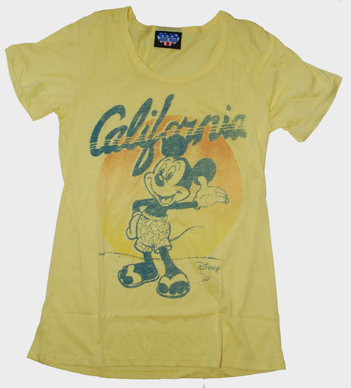 Disney Mickey Mouse California Womens Tee Shirt by Junk Food Clothing