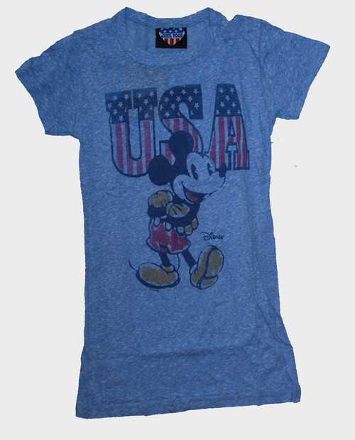 Disney Mickey Mouse USA Womens Tee Shirt by Junk Food Clothing