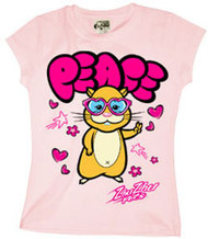 Zhu Zhu Pets Pipsqueak Peace Girls Tee Shirt