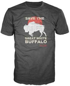 Hot Tub Time Machine Save the Buffalo Distressed Mens Tee Shirt
