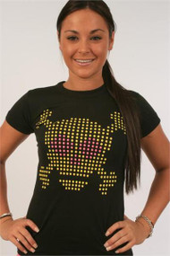 Junk Food Lite Brite Skull Womens Tee Shirt