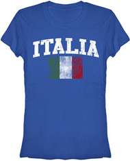 Distressed Italia World Cup Soccer Juniors Tee Shirt