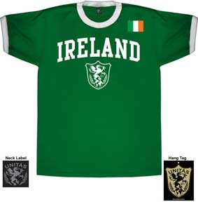Ireland World Cup Soccer Mens Ringer Tee Shirt