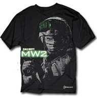 CALL OF DUTY MODERN WARFARE 2 SOLDIER CLOSEUP MENS TEE SHIRT