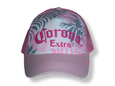 Corona Pink Flower Truckers Hat