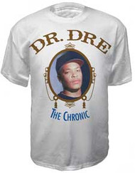 DR. DRE THE CHRONIC WHITE MENS TEE SHIRT