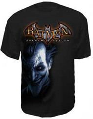 BATMAN ARKHAM ASYLUM JOKER MENS TEE SHIRT