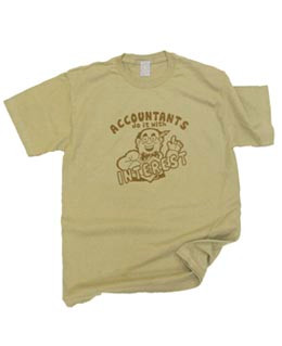 Vintage Accountants Do It With Interest Mens Tee Shirt