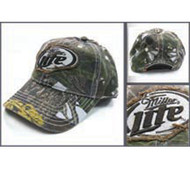 Miller Lite Camoflauge Adjustable Hat