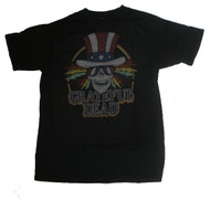 Mens Grateful Dead Independence Black Wash Tee Shirt by Junk Food Clothing